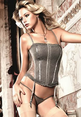 Baci Lace and Mesh Bustier
